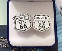 """Мото запонки """"Route 66"""""""