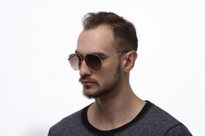 Модные солнечные очки капельки от солнца авиаторы мужские с поляризацией и металлической оправой.