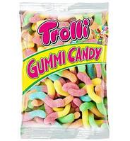 Желейные конфеты Trolli Gummi Candy Glowworms Червячки в кислой посыпке 1000 г Германия
