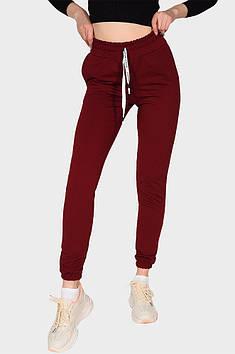 Спортивные штаны женские вишневые AAA 131593T