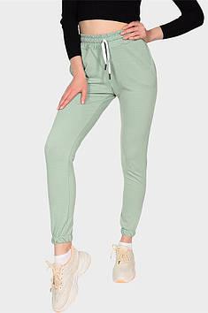 Спортивные штаны женские мятные AAA 131591T