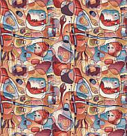 Декоративна тканина особи в стилі Пікассо на бавовні Іспанія 280см 88076v1, фото 1