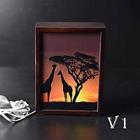 Ночной светильник в спальню Африканский закат (венге)