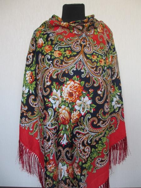 Роскошный шерстяной украинский платок Турция 2