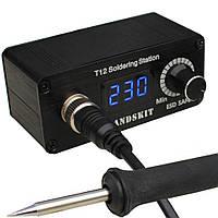 Микропаяльная станция T12 HandsKit Led, 72W, 200-450°C, DC-12-25V, паяльная станция для контактной BGA пайки