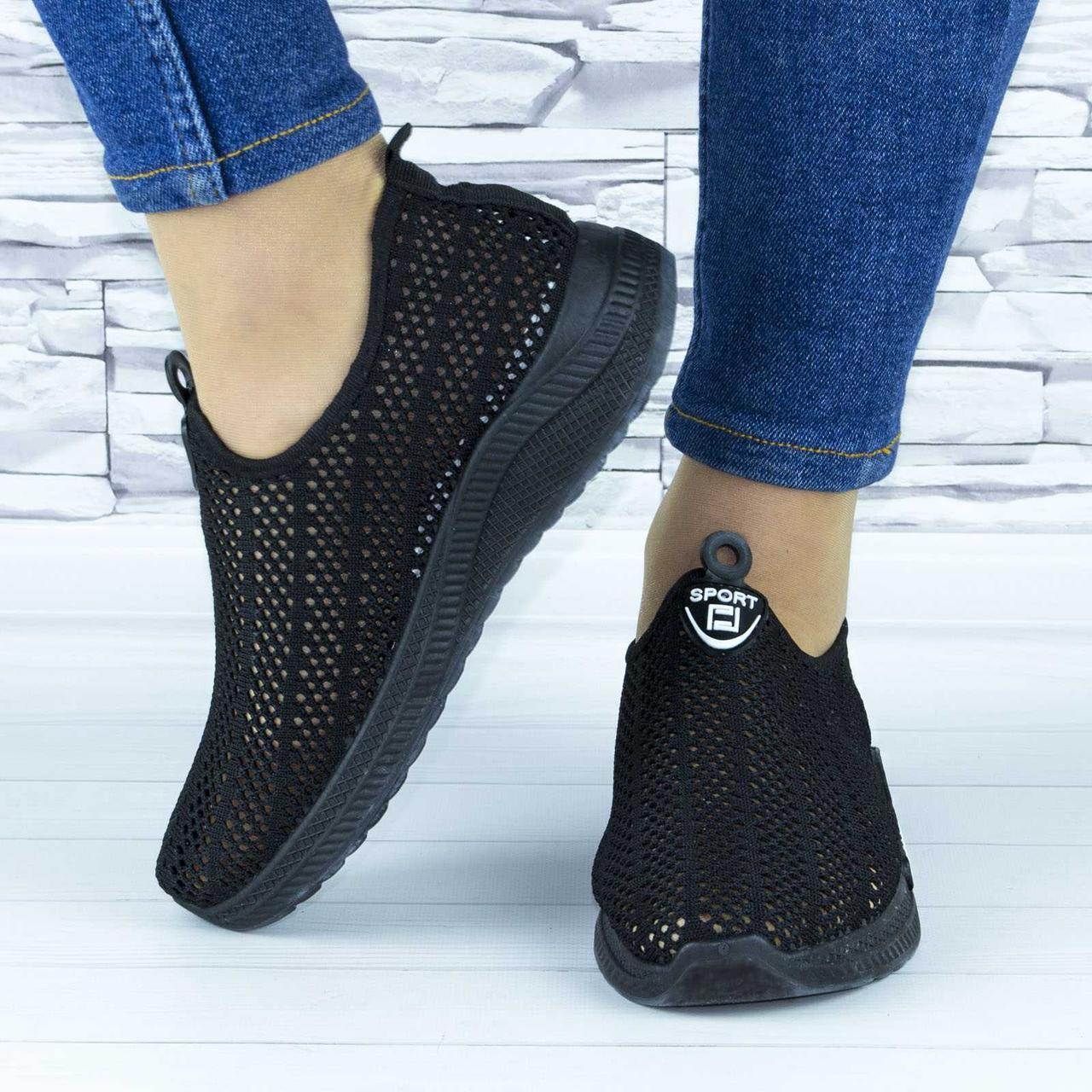 Кросівки жіночі чорні сіточка (b-657)