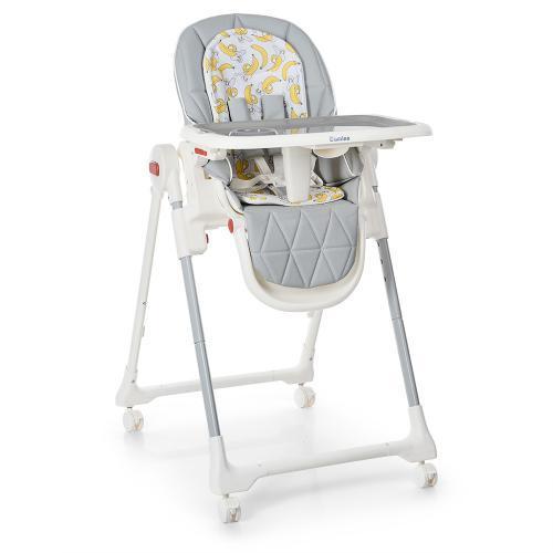Дитячий стільчик для годування EL CAMINO, ME 1037 CRYSTAL Banana Gray