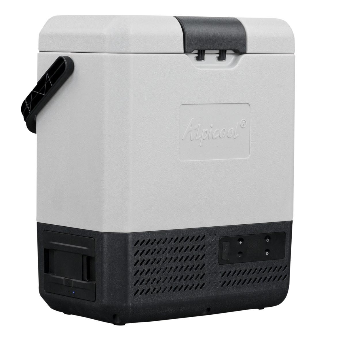 Компресорний автохолодильник Alpicool EP8 (8 літрів). До -20℃, живлення 12, 24, 220 вольт, вбудована батарея