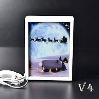 Ночной светильник в спальню Рождество (белый)