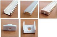 Алюминиевый профиль ПФ-15 накладной (комплект) 1метр