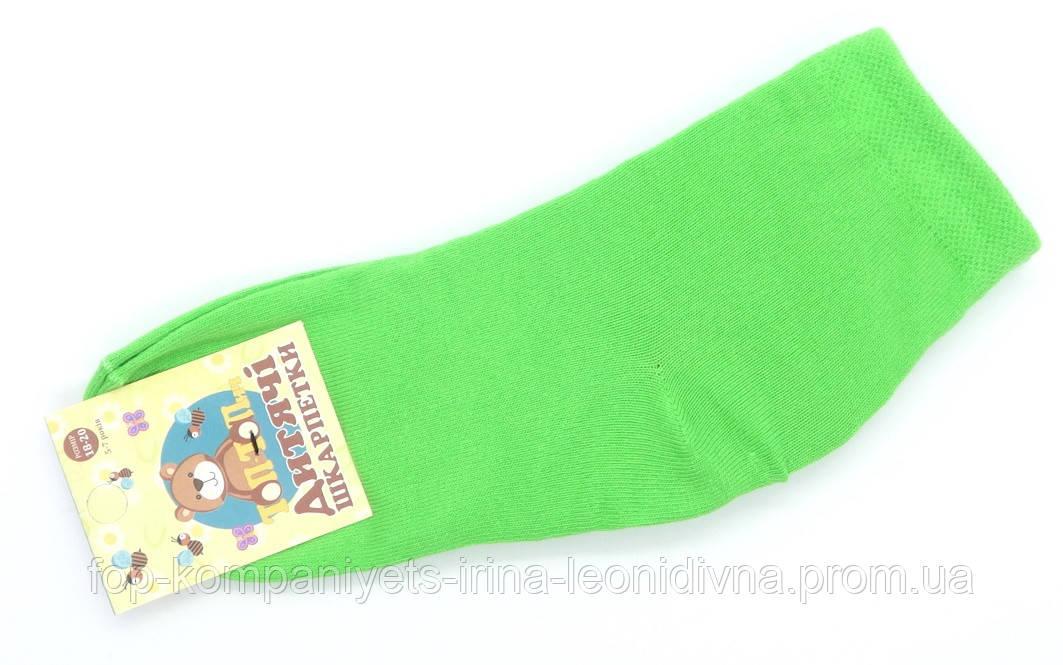 Шкарпетки дитячі ТОП-ТАП 20-22р 32-34 салатовий (Д-102)