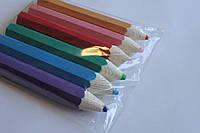 Карандаши цветные большие 6шт/уп.