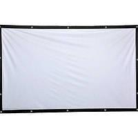 Рулонный экран для проектора натяжной настенный Simple projection screen Сто дюймов 16:9 ФОТО