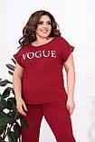 Трикотажный женский костюм летний Размер 48-50 52-54 56-58 60-62 В наличии 4 цвета, фото 2