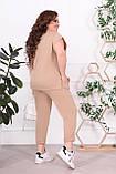 Трикотажный женский костюм летний Размер 48-50 52-54 56-58 60-62 В наличии 4 цвета, фото 3