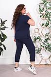 Трикотажный женский костюм летний Размер 48-50 52-54 56-58 60-62 В наличии 4 цвета, фото 7