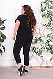 Трикотажный женский костюм летний Размер 48-50 52-54 56-58 60-62 В наличии 4 цвета, фото 5