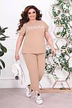 Трикотажный женский костюм летний Размер 48-50 52-54 56-58 60-62 В наличии 4 цвета, фото 8