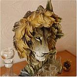 """Подарочный коньячный набор """"Голова льва"""" стеклянный графин и 6 стопок на подставке из полистоуна, фото 7"""