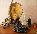 """Подарочный коньячный набор """"Голова льва"""" стеклянный графин и 6 стопок на подставке из полистоуна, фото 8"""