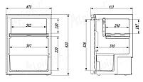 Компресорний автохолодильник Alpicool CR65 (65 літрів). Охолодження до -20℃, живлення 12, 24, 220 вольт, фото 5