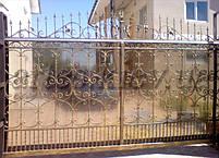 Ворота откатные, зашивка поликарбонат, фото 2