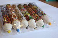 Карандаши цветные большие в этикетке 6шт/уп.