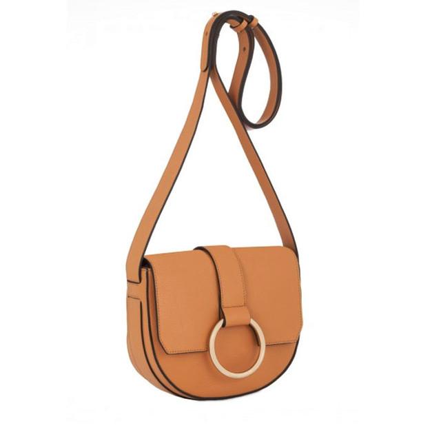 Coccinelle Cross Body Bag медового цвета вид сбоку