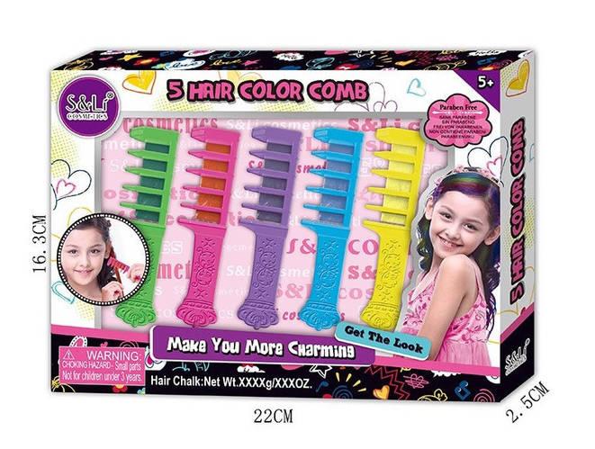 Набор мелков для волос S22765 с расческой