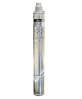 Скважинный насос SPRUT 4S QGD 2.5-140-1.1+ кабель 10м глубинный насос напор 165м, 3,3 м3/ч,1550 Вт