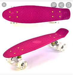 Скейт MS 0848-2 Пенні борд ( Penny Board), світяться колеса