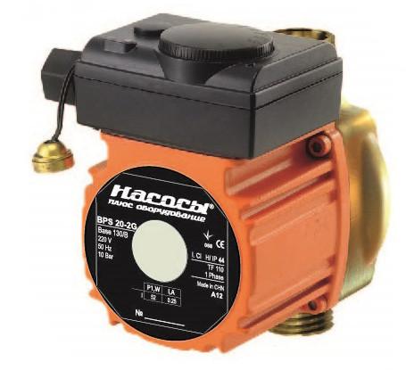 Рециркуляційний насос Насоси плюс 20 BPS-4G-130/B для опалення напір 5,3 м подача 2 м3/год потужність 65 Вт