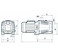 Центробежный насос Насосы + JET 100X бытовой насос для полива и повышения давления, напор на 53м, фото 2