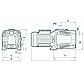 Відцентровий самовсмоктуючий насос Насоси + JET 100X побутовий насос для поливу і підвищення тиску, напір 53м, фото 2