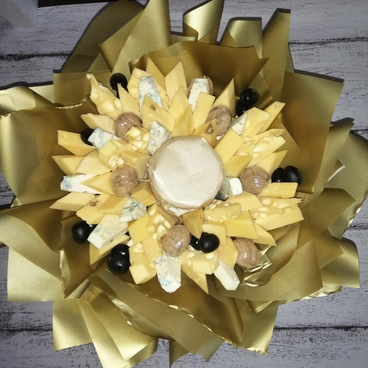 Букет из сыра  и орехов съедобный вкусный поздравительный подарочный Майский