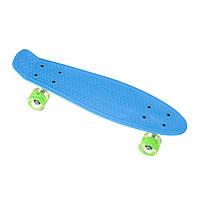 Пеник пенниборд скейт скейтборд 23, пенни борд колёса PU полиуретан 60мм СВЕТЯЩИЕСЯ