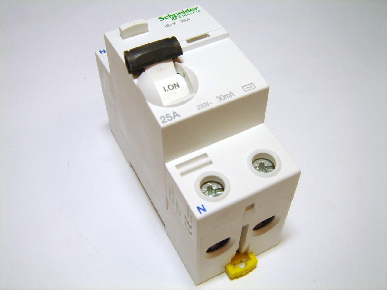 Диференційне  реле Schneider Electric Acti 9 iID K 2p 25A 30mA A9R50225