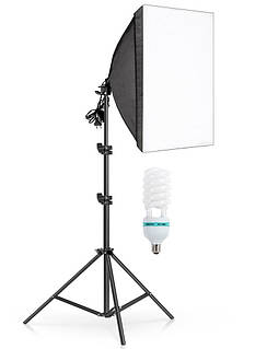 Комплект постоянного студийного света софтбокс Prolighting 50х70см + Стойка + Лампа 125 Вт.