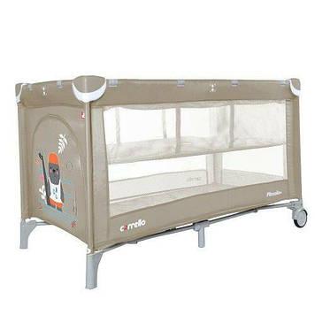 Игровой манеж для детей от 6 месяцев с входом на молнии Манеж игровой бежевый Детский манеж-кровать