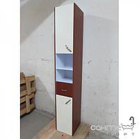 Уценённая сантехника Мебель и зеркала для ванной комнаты Пенал для ванной комнаты подвесной EGOA MGL-1, коричневый, петли справа
