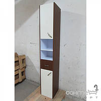 Уценённая сантехника Мебель и зеркала для ванной комнаты Пенал для ванной комнаты подвесной EGOA MGL-1, венге, петли слева