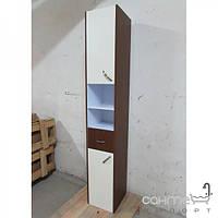Уценённая сантехника Мебель и зеркала для ванной комнаты Пенал для ванной комнаты подвесной EGOA MGL-1, венге, петли справа