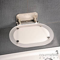 Душевые кабины, двери и шторки для ванн Ravak Сидение для ванной комнаты Ravak Chrome прозрачное, конструкция нерж. сталь B8F0000029