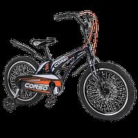 Велосипед детский для мальчика девочки 5 6 7 лет колеса 18 дюймов Corso MG-18008 магниевая рама, фото 1