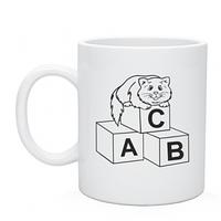 Кружка детская с изображением Кот на кубиках