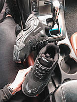 Кросівки Balenciaga Triple S All Black. Шкіряні чорні кросівки Баленсіага, фото 2