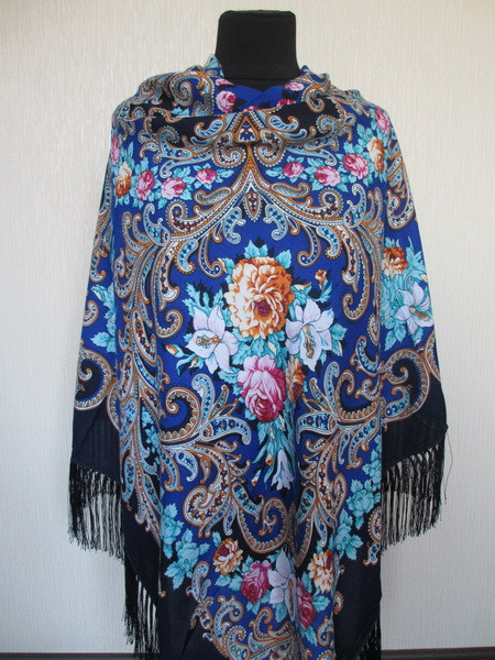 Роскошный шерстяной украинский платок Турция