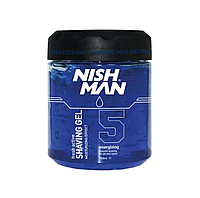 Гель для гоління Nishman Shaving Gel No.5 Fresh Active 750 мл
