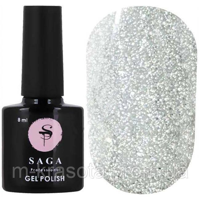 Світловідбиваючий гель-лак для нігтів Saga FIERY GEL №01, 8 мл
