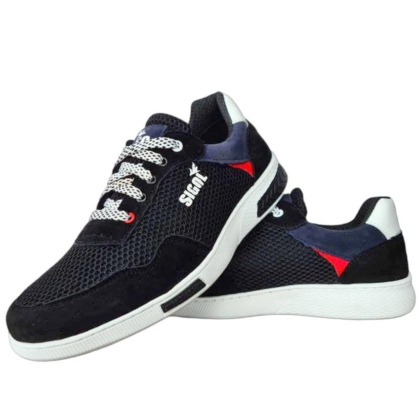 Кросівки чоловічі літні сітка чорні (Сгл-10ч)